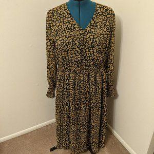Who What Wear Women's Long Sleeve Cheetah Dress